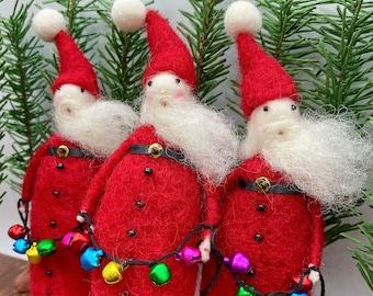 Needle Felt Santa Ornament