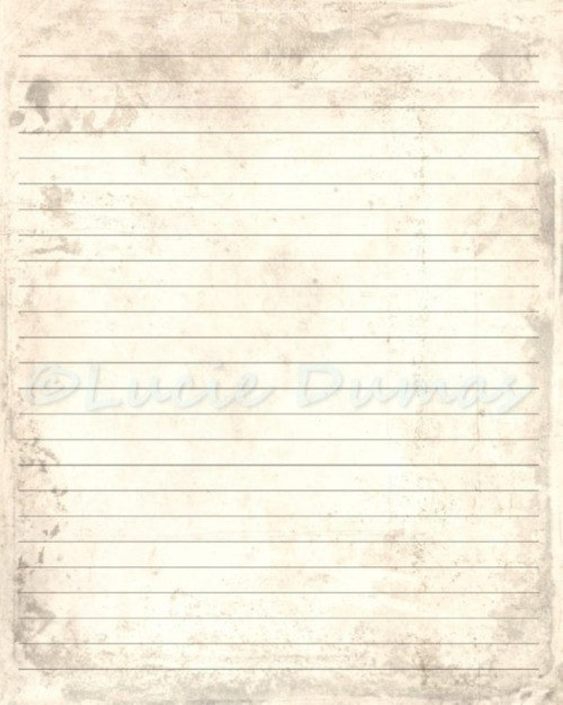 Digital Printable Journal Page Antique Background Stationary Etsy