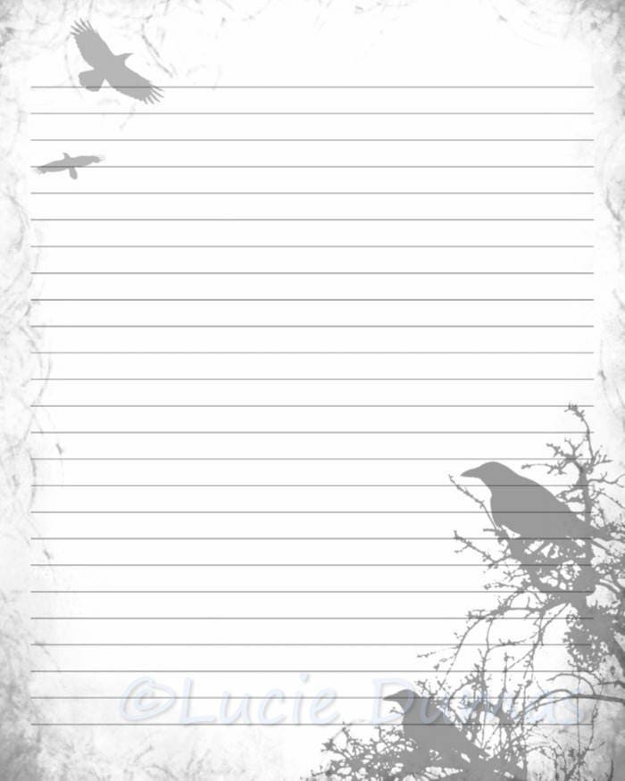 Digital Printable Journal Page Stationary 8x10 Jpg Download