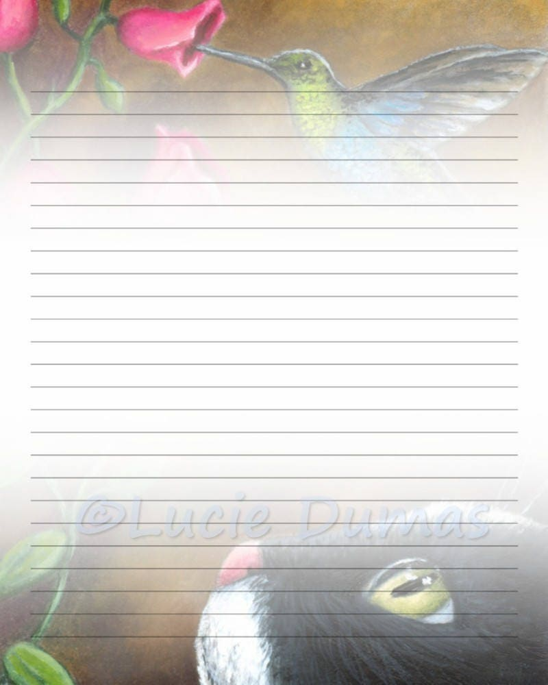 Digital Printable Journal Page Stationary 8x10 Jpg Download Etsy