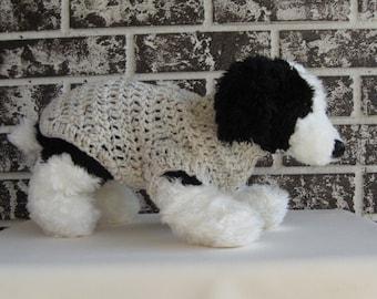 Xs dog sweater, small dog sweater, aran fleck color dog sweater,pet sweater