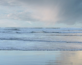 Large Scale Seascape on Canvas with Wood Float Frame