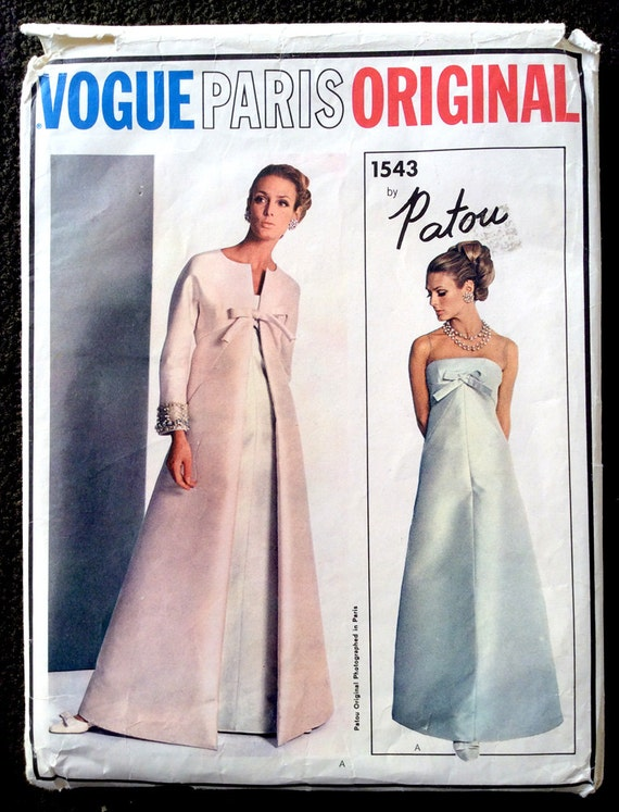 "1967 Vintage Vogue Sewing Pattern Vestido B34/"" 1527 Por Patou/""/"""