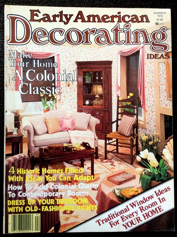 Vintage 1979 Early American Decorating Magazine Craft Projects and Interior  Design Ideas