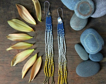 Fortitude and Fringe Earrings: Sunset on the Mountain