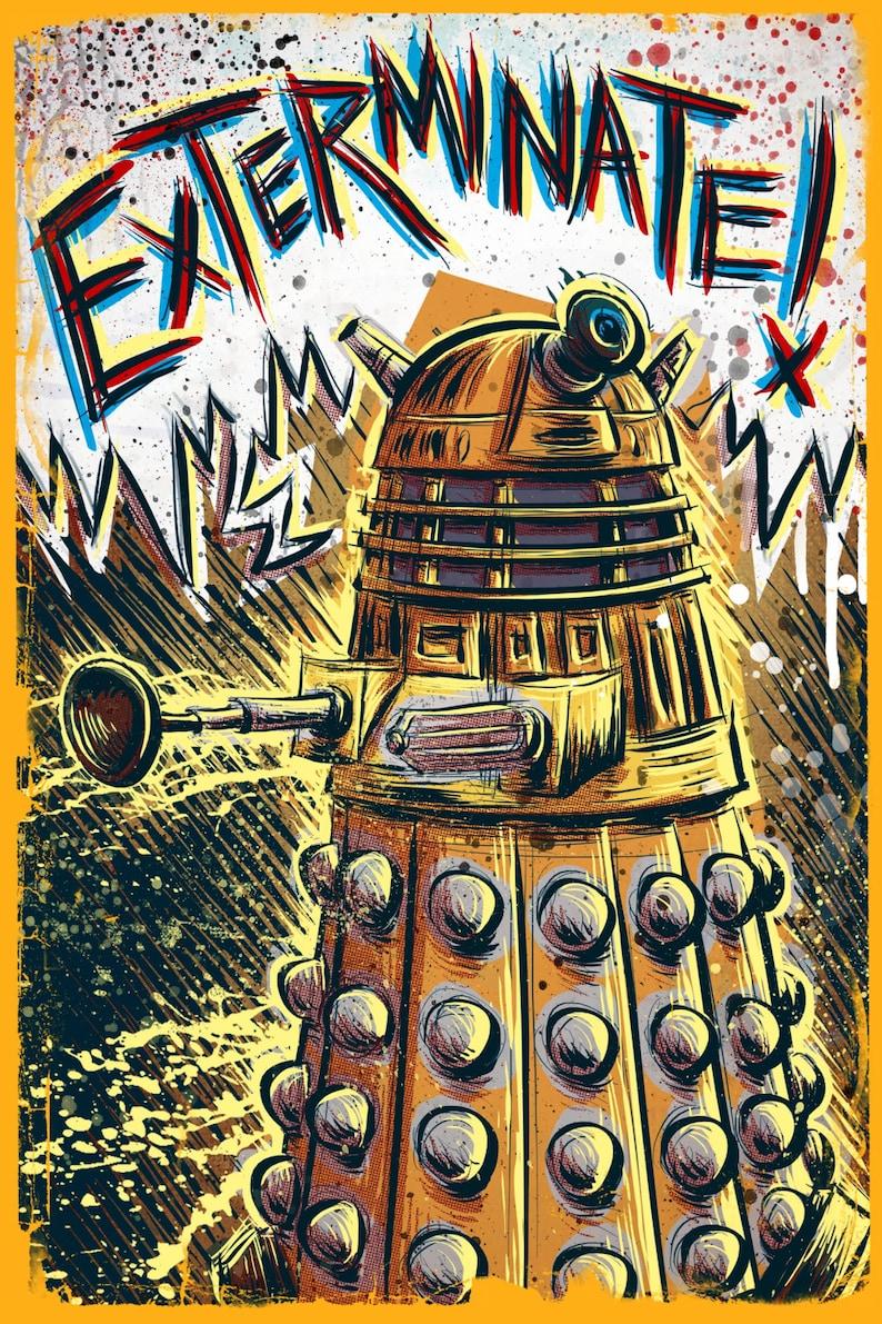 7daa8896746 Dalek Dr Who art print the Doctor Who BBC davros tardis the