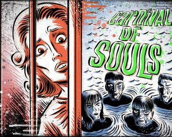 Carnival of Souls Art Print horror sci fi b-movie bmovie cult classic retro film criterion candace hilligoss herk harvey thriller circus