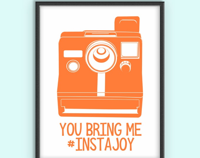 Instagram, Polaroid, Digital Print, Funny Nursery Room Art