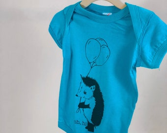 Hedgehog Onesie, Turquoise