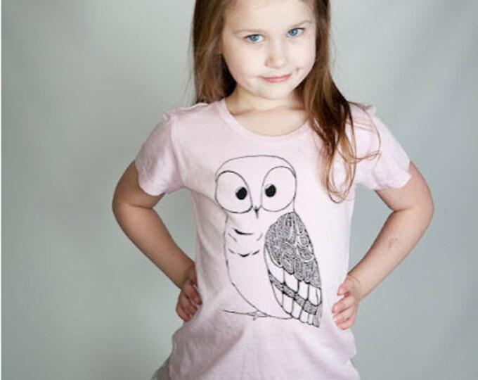 Girls Owl Shirt,  Pink T-shirt