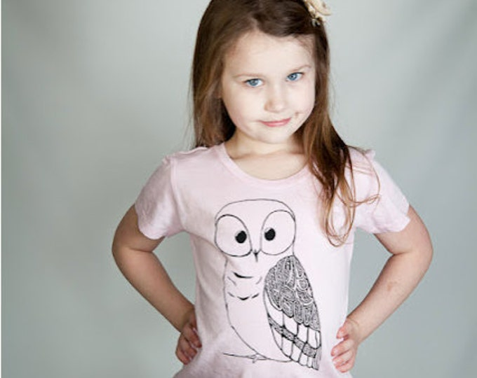 Girls Owl Shirt,  Pink T-shirt