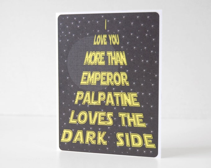 Funny Star Wars Dark Side Card