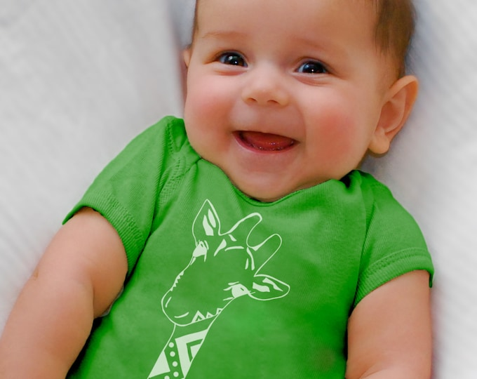 Giraffe, Baby Clothes, Bodysuit,