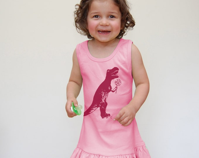 Cute Dinosaur Ruffle Dress