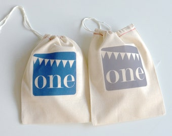 Custom Birthday Party Gift Bags, Set of 6