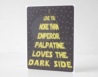 Funny Star Wars Dark Side Card