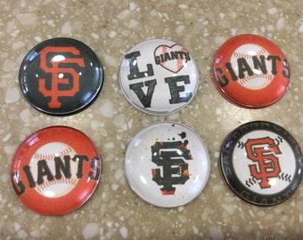 Handmade- SF Giants Mangets (set of 6)
