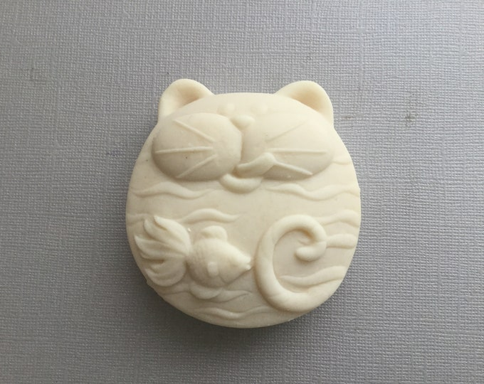 Featured listing image: Cat shaped Goat Milk Soap