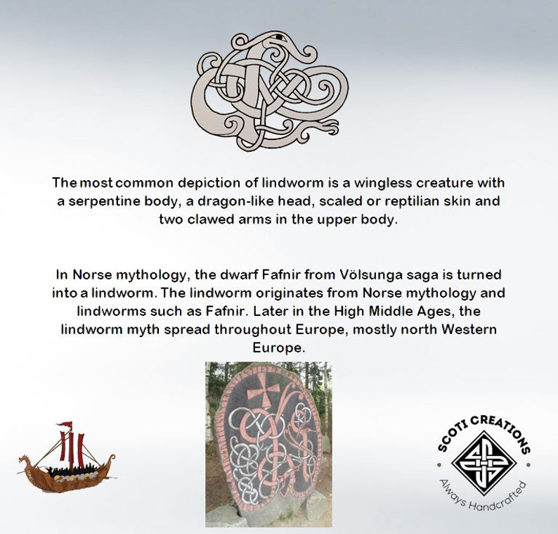 Viking LindwormLindwurm Brooch