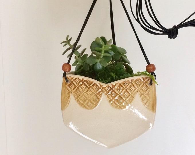 Featured listing image: Decorative Hanging Ceramic Planter