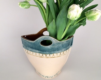 Large Pottery Vase/Utensil Holder