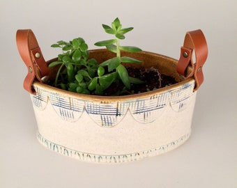 Herb and Succulent Ceramic Planter