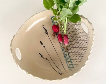 Large  Serving Bowl with Handles