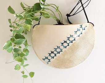 Small Ceramic Hanging Planter