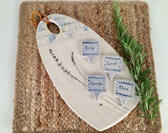 Ceramic Cheese Board Set