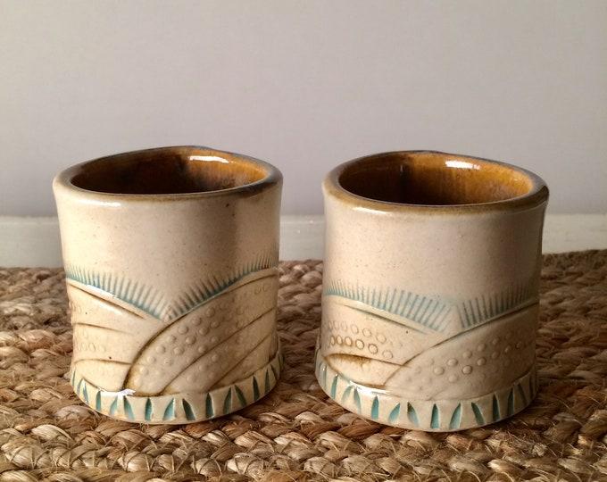Featured listing image: Ceramic Espresso Cup Set