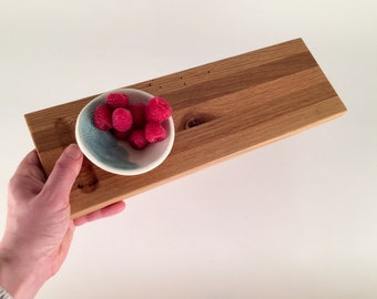 Wood Cheese Board with Dipping Bowl