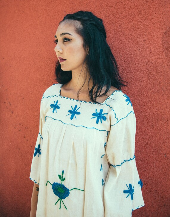 Vintage Handmade Embroidered Mexican Dress