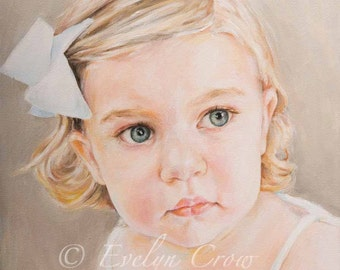 """Oil Painting - Custom Portraits from Your Photos - Child Portrait  16"""" x 12"""" (Head and Shoulders)"""