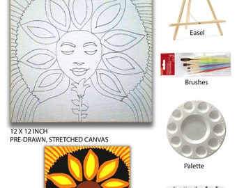 The Sunflower Sip n' Paint at Home Kit
