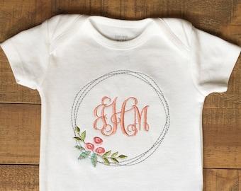 Fille vêtements - bébé fille Coming Home Outfit - bébé fille cadeau - monogramme de bébé - Bébé fille tenue de bébé