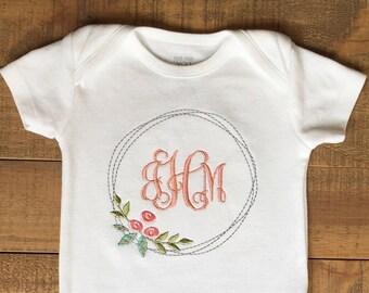 Cadeau de Shower - bébé fille Coming Home tenue - bébé fille vêtements - bébé fille cadeau - monogramme de bébé - Bébé fille tenue