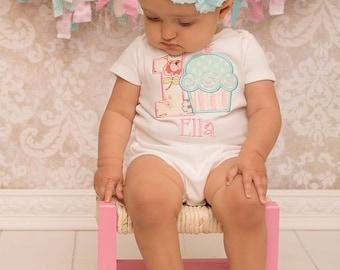Cupcake Birthday Shirt - Cupcake Birthday Bodysuit - Girls First Birthday Shirt - First Birthday Shirt