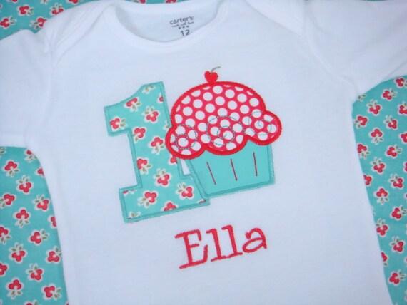 Cupcake Birthday Shirt Girls