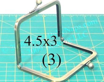 13% OFF 3 antique brass 4.5x3 metal purse frame