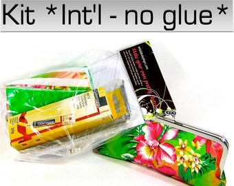 COMPLETE Make Your Own Clutch Kit with Resort fabric included - & 6 patterns for International customers