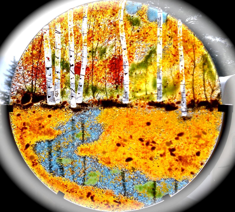 Fused Glass Aspen Birch Maple Trees Oak Forest Autumn or | Etsy