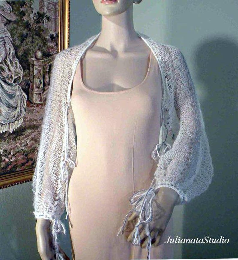 Sale World Famous Orenburg Lace Yarn Exquisitely Delicate FEATHERLIGHT LACY SHRUG Wearable Fiber Art As It/'s Finest
