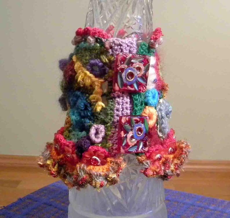 Textured Crewel ELEGANT BRACELETCUFF Freeform Crochet Exquisitely Beaded Hand Embroidered Fiber Art Jewelry As It/'s Finest Sale