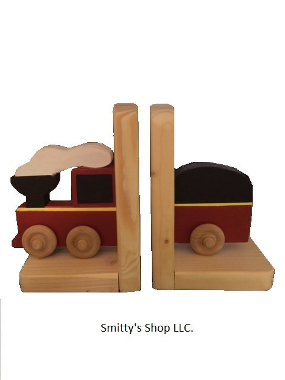Hand Made In Uk Red Tractor Wooden Bookends