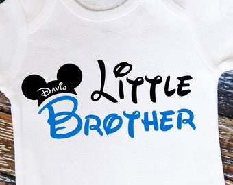 Personalized Mouse Ears Little Brother Shirt or Bodysuit - Personalized with ANY Name!