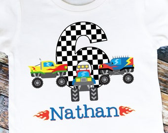 Monster Truck Birthday Shirt - Personalized with ANY Name and Age!