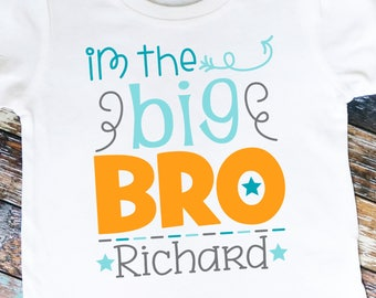 Personalized I'm the Big Bro Shirt or Bodysuit - Great for the big brother or as a gift!