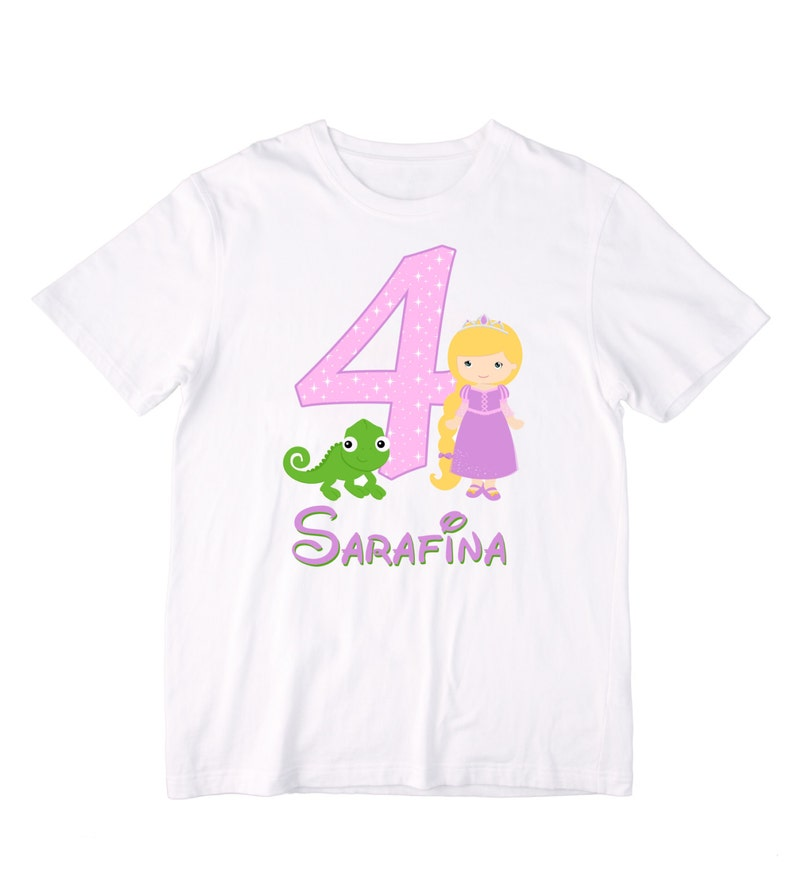 Personalized Rapunzel And Pascal Princess Birthday Shirt Or