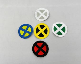 X-Men XMen 3 inch iron on patch choice of colors Cosplay Rogue Wolverine Storm Cyclops Jean Grey X-Force Deadpool