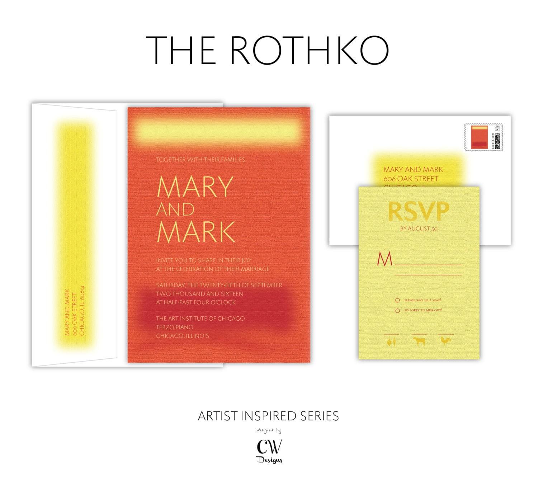 Artist Inspired Series The Rothko Modern Wedding | Etsy